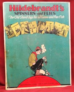 Hildebrandt's Spinners & Flies Counter Stand-Up Cardboard Advertising Sign