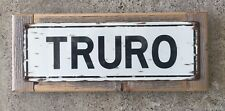 Truro Massachusetts Outer Cape Cod Beach Vintage Framed Street Sign Home Decor