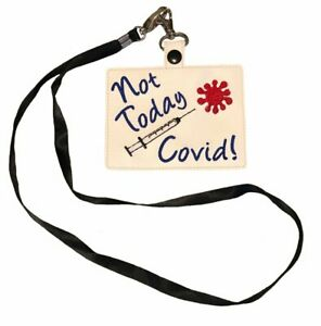Not Today Vaccination Card Holder Lanyard
