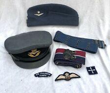 More details for raf beret / cap + belts & cloth badges post 1952 & officers cap