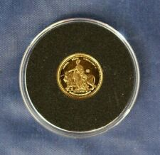 1989 Gibraltar Gold Quarter Sovereign coin in Capsule