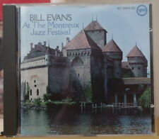 BILL EVANS AT THE MONTREUX JAZZ FESTIVAL COMPACT DISC VERVE 1986