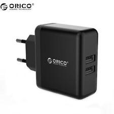 EU Plug Dual Ports 5V/2.4A Universal USB Wall Charger Adapter for iPhone Samsung