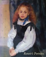 Art Book French Artist Renoir Portraits Paintings Hardcover Excellent Condition