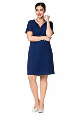 Etui-Kleid sheego CLASS mit Wollanteil Nachtblau Lang-Größen NEU!!! KP 79,99 €
