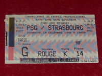 [COLLECTION SPORT FOOTBALL] TICKET PSG / STRASBOURG 18 DEC 1994 Champ. France