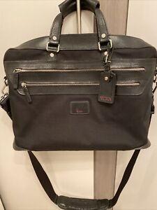 Tumi Leather & Ballistic Black Briefcase