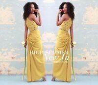 Virgos Lounge Dress Clara Embellished Cocktail Wedding Maxi UK6 EUR34 US2