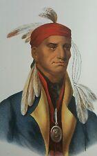 Plate No. 18 SHIN-GA-BA-W'OSSEN, Octavo McKenney & Hall History of Indian Tribes