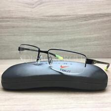 Nike with Flexon 4275 Eyeglasses Black Rubber Black Green 003 Authentic 53mm