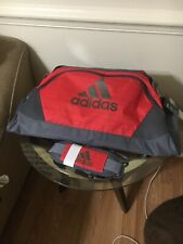 Vintage ADIDAS Duffle Bag- ORANGE  w/ Gray- Brand New WITH DEFECTS