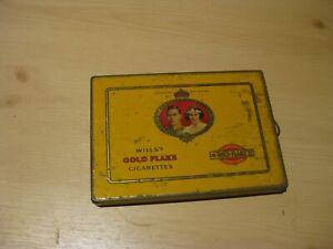 Vintage Wills's Gold Flake 1937 May 12th Coronation tin