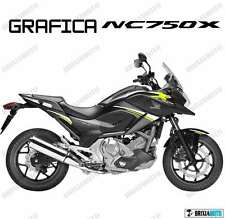 ADESIVI DECAL STICKERS HONDA NC750X NC 750 X RACING CARENA GRAFICA BIANCO GIALLO