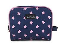PAUL FRANK estrellas jóvenes Maquillaje Cosmético Caso Bolsa De púrpura rosado con cremallera