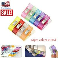 Pack of 20 Fixed Wonder Clips For Fabric Craft Quilting Knitting Sewing Crochet