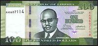2016 Liberia $100 Dollars Banknote * First Prefix 'AA' * UNC * P-35a *