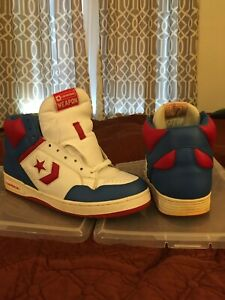 CONVERSE WEAPON 2003 WHITE BLUE RED 1J092 PREOWNED NO BOX SIZE 10.5 MENS