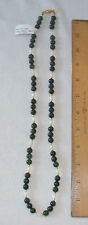 "8MM JADE & FRESH WATER PEARL BEADS  - 26"" STRAND WITH BEAD HOOK PEARL CLASP"