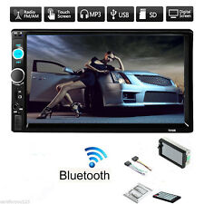"""7"""" 2 Din In-Dash Bluetooth 1080P Car Stereo MP3 Player FM Radio AUX Touch Screen"""
