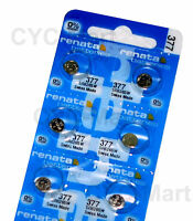 6 pcs x Renata 377 SR626SW Silver Oxide Watch Battery, Swiss Made FREE POST WW