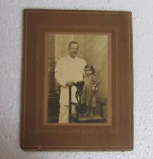 Vintage Old Indian Man With Cute Baby Black & White Photo Graph Collectible