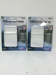 Lit Of (2) Night Light Forever-Glo panel NL-GLOW-2 Plug in Blue/Magenta