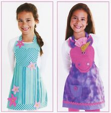 New Kid's Pattern FANTASY FRIENDS APRONS Sizes 3 - 8