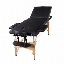 """Suncoo 84""""L 3 Fold Portable Massage Table Facial Spa Bed Tattoo with Carry Case"""