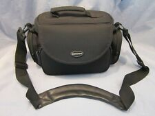 SAMSONITE CAMERA BAG BLACK NYLON CLEAN TRAVEL COMPARTMENT PURSE + SHOULDER STRAP