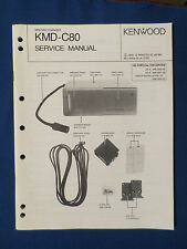 KENWOOD KMD-C80 MINI DISC CHANGER SERVICE MANUAL ORIGINAL GOOD CONDITION