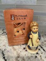 1996 Goebel Hummel W. Germany Garden Treasures 727 Boy Shovel Figurine w/Box