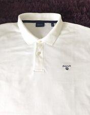 BNWOT impresionante 100% Genuino Camisa Polo para hombre GANT BLANCA en 2XL