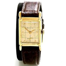 21 JEWEL BULOVA WATCH | YELLOW GOLD FILLED CASE CHECKERBOARD DIAL CA1954