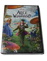 Disney's Alice In Wonderland (Johnny Depp) DVD 2010 New Sealed