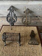 Vintage Cast Iron Letter Holder Wall Mounted Letter/Receipt Holder Office/Bank
