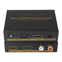 1x2 HDMI Splitter 1 In 2 Out with EDID Setting/Audio Extractor Converter 1080P