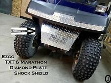EZGO TxT & Marathon golf cart Polished Aluminum Diamond Plate Bumper/Shock Cover