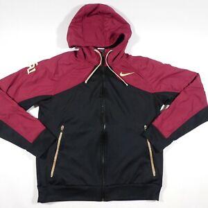 FSU Seminoles Nike Track Jacket Adult Large Hooded Full Zip Swoosh NCAA Men's