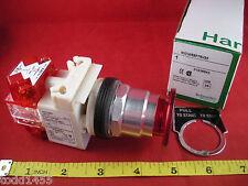 Square D 9001KR8P7RH25 Red Pushbutton Operator Mushroom Switch Illuminated New