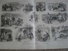 Grouse Shooting ancient and modern 1879 old large print