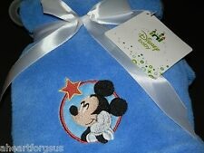 BABY BLANKET DISNEY MICKEY MOUSE SOFT BLUE STARING AT STAR CIRCLE BOY RED NEW