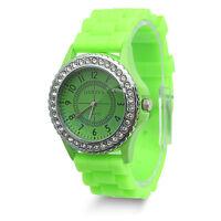 Fashion Women Geneva Silicone Rubber Jelly Gel Quartz Casual Sports Wrist Watch