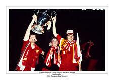 1981 COPPA DEI CAMPIONI Liverpool Foto a4 stampare la foto Kenny Dalglish SOUNESS Hansen