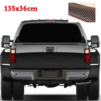 1pc 135x36cm Waterproof Black Rear Window Perforated Decal Sticker For SUV Jeep