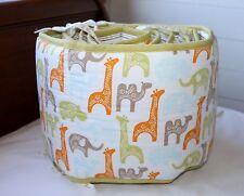 Dwell Studio Target MENAGERIE Giraffes Elephants Hippos Crib Bumper PRISTINE