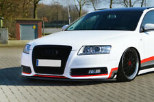 For Audi A6 4F C6 SE Facelift Front Bumper Lip Cup Skirt Chin Valance Splitter