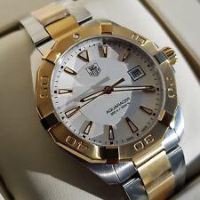 NEW Tag Heuer Aquaracer Quartz Watch WAY1120.BB0930 Yellow Gold Box & Warranty