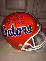 Tim Tebow Signed Florida Gators College Football Helmet 06/08 Champs 07 Heisman