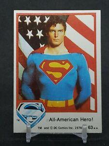 1978 Superman card All-American Hero! #63