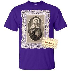 Saint Mathilde V2 Catolic Christian Church Print DTG T SHIRT All sizes S-5XL